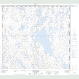 Canadian Topo Map - Lac Hérodier - Map 024F07