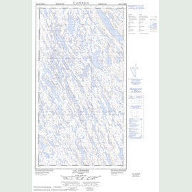 Canadian Topo Map - Lac Léopard - Map 024F13W