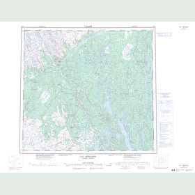 Canadian Topo Map - Lac Hérodier - Map 024F