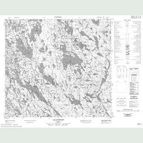 Canadian Topo Map - Lac Soissons - Map 024G01