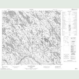 Canadian Topo Map - Lac Papavoine - Map 024G02