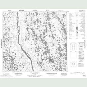 Canadian Topo Map - Lac Maunecy - Map 024G06