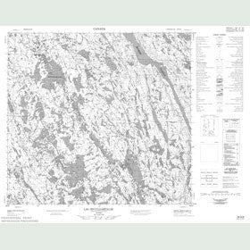 Canadian Topo Map - Lac Sivulijartalik - Map 024G09
