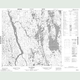 Canadian Topo Map - Lac Saffray - Map 024G11