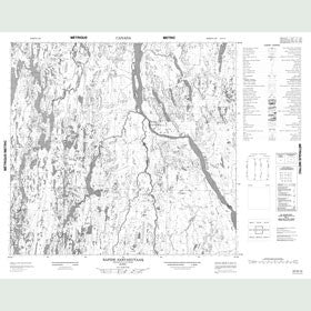 Canadian Topo Map - Rapide Sarvakutaaq - Map 024G13