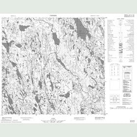 Canadian Topo Map - Lac Treillet - Map 024G15