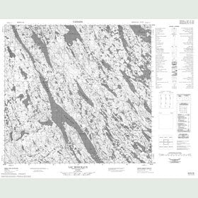 Canadian Topo Map - Lac Monceaux - Map 024G16