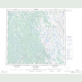 Canadian Topo Map - Lac Saffray - Map 024G