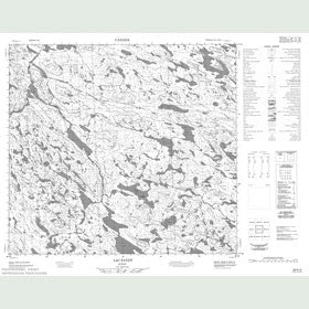 Canadian Topo Map - Lac Fajot - Map 024H04