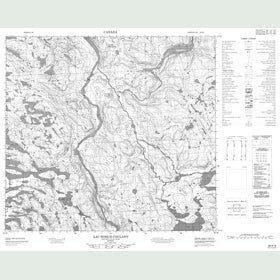 Canadian Topo Map - Lac Noeud Coulant - Map 024H06