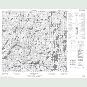 Canadian Topo Map - Lac Henrietta - Map 024H07