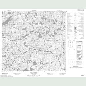 Canadian Topo Map - Lac Laforme - Map 024H15