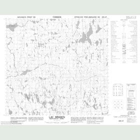 Canadian Topo Map - Lac Biraben - Map 024I01