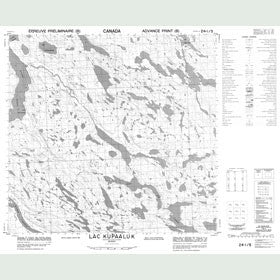 Canadian Topo Map - Lac Kupaaluk - Map 024I05