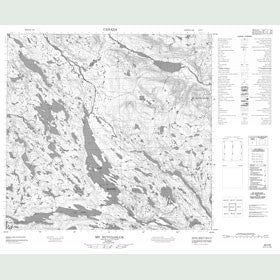 Canadian Topo Map - Mont Nuvulialuk - Map 024I06