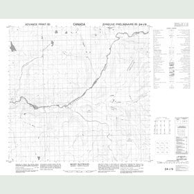 Canadian Topo Map - Mont Haywood - Map 024I09