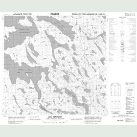 Canadian Topo Map - Lac Qarliik - Map 024I13