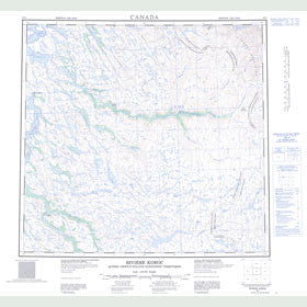 Canadian Topo Map - Riviere Koroc - Map 024I