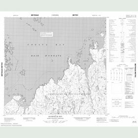 Canadian Topo Map - Alukpaluk Bay - Map 024J06