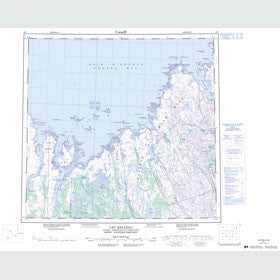 Canadian Topo Map - Lac Ralleau - Map 024J