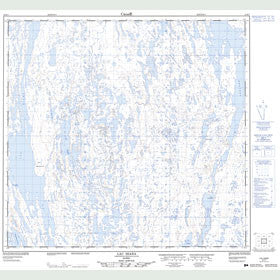 Canadian Topo Map - Lac Diana - Map 024K07