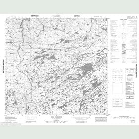 Canadian Topo Map - Lac Carlier - Map 024L03