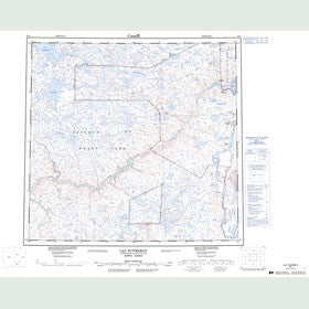 Canadian Topo Map - Lac Dufreboy - Map 024L