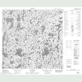 Canadian Topo Map - Lac Rivier - Map 024M05
