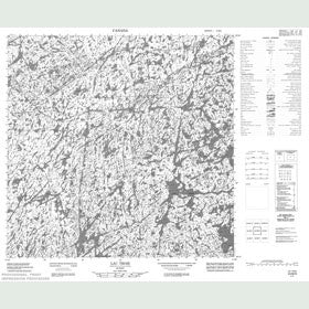 Canadian Topo Map - Lac Troie - Map 024M06