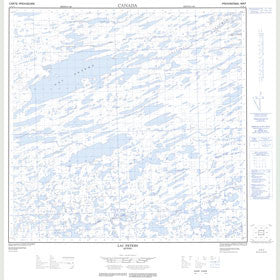 Canadian Topo Map - Lac Peters - Map 024M10