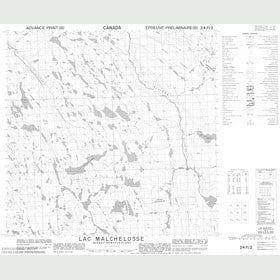 Canadian Topo Map - Lac Malchelosse - Map 024P02