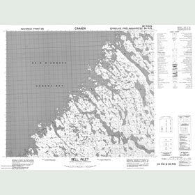 Canadian Topo Map - Bell Inlet - Map 024P14