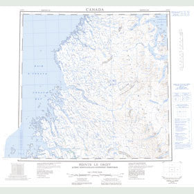 Canadian Topo Map - Pointe le Droit - Map 024P
