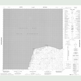 Canadian Topo Map - Singer Point - Map 025C09