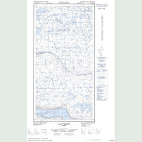 Canadian Topo Map - Lac Trempe - Map 025D02E