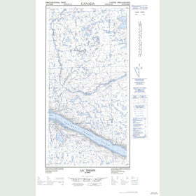 Canadian Topo Map - Lac Trempe - Map 025D02W