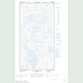 Canadian Topo Map - Lac Ammaluttuuq - Map 025D07W