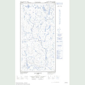 Canadian Topo Map - Lac Tasiruluk - Map 025D09W