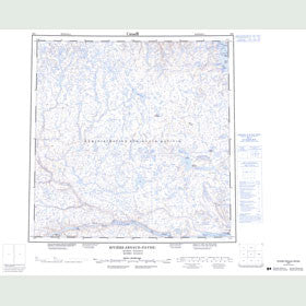Canadian Topo Map - Riviere Arnaud (Payne) - Map 025D
