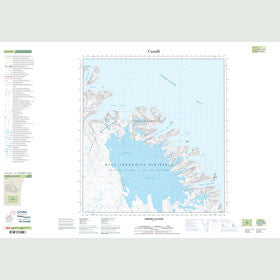 Canadian Topo Map - Grinnell Glacier - Map 025J10