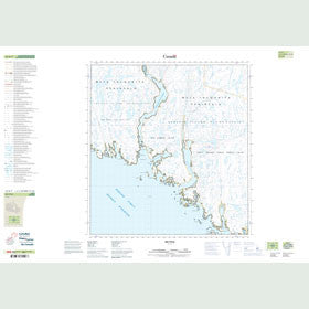 Canadian Topo Map - Map 025K07