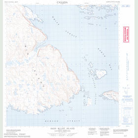 Canadian Topo Map - High Bluff Island - Map 025L09