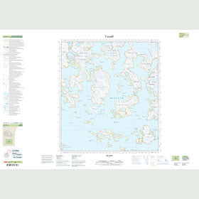Canadian Topo Map - Map 025M12