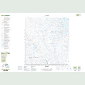 Canadian Topo Map - Butler Bay - Map 025P03
