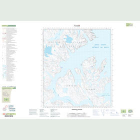 Canadian Topo Map - Anderson Channel - Map 025P15