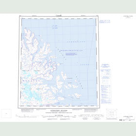 Canadian Topo Map - Leybourne Islands - Map 026A