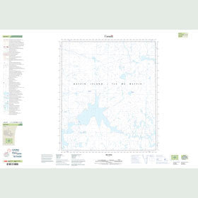 Canadian Topo Map - Map 026B05