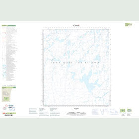 Canadian Topo Map - Map 026B11