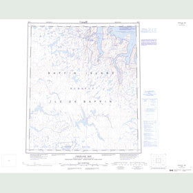 Canadian Topo Map - Chidliak Bay - Map 026B