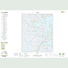 Canadian Topo Map - Map 026F16